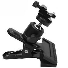 Metal Studio Hot Shoe Spring Clamp Clip & Ball Head for Flash Light Stand Camera