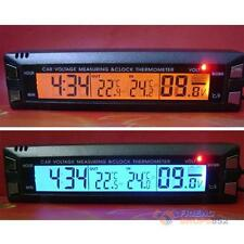 Car Large LCD Display Clock Thermometer Volt Meter Voltage Measuring Gauge #F8s