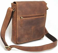 Fits Ipad/Tablet. Quality Full Grain CowHide Vintage Leather Shoulder Bag. 52007