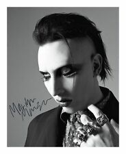 MARILYN MANSON SIGNED AUTOGRAPHED A4 PP PHOTO POSTER