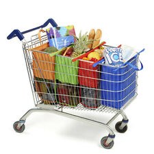 Set of 4 Bags Reusable Grocery Cart Shopping Trolley Bags Carrier for Christmas