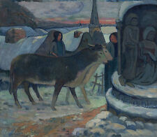 Christmas Night The Blessing of the Oxen Paul Gauguin St. Weihnachten B A3 03011