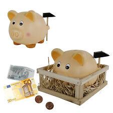 Sparschwein mit Hammer im Stall 15cm  Keramik Spardose  Hochzeit Geld Sparsau