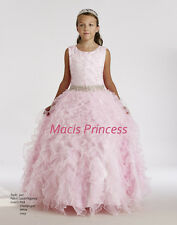 Macis Pageant Girl Dress Pink size 12 Flower Girl Stunning $409 FLOOR SAMPLE