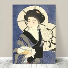 "Beautiful Japanese GEISHA Art ~ CANVAS PRINT 8x10"" Bathhouse"