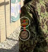 KANDAHAR WHACKER JSOC AFGHAN NATIONAL ARMY APU SSI: ANA SP OPS + ISAF INSIGNIA