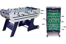 """Kickertisch Tischfußball Kicker Tisch  """"Chelsea""""  140x76x86cm silber/blau"""