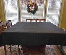 "Tablecloth 70"" x 70"" US Square Black NEW Polyester Fabric Holiday Party sq linen"