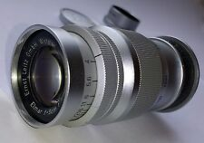 ELMAR F=9CM 1:4 SHORT TELEPHOTO LENS 90MM F4 BY E. LEITZ WETZLAR FOR LEICA
