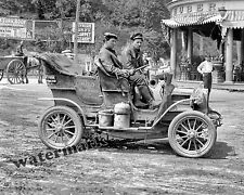 Photograph Vintage Cross Country Car REO Mountaineer 10 Month Trip 1906  8x10