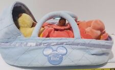 Disney Parks Babies Winnie the Pooh Plush Doll Baby Blanket & Bassinet Toy NWOT