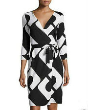 Diane von Furstenberg New Julian Two Chain link HugeWrap Dress US size 6