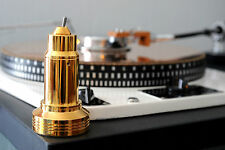 Turntable Lamp. Portable LED Lamp. 24K Gold Plated, Garrard 301,401.  DS Fontec.