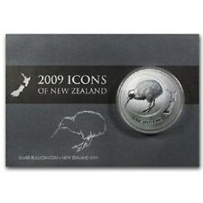 NEW ZEALAND: 2009 KIWI, 1 OZ SILVER BU $1 DOLLAR COIN!!! SCARCE!!!!