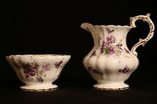 Hammersley Victorian Violets England's Countryside Creamer Pitcher & Sugar Bowl