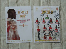 Feuille de match AS MONACO FC Sco Angers asm signed EQUIPE depart ultras 16/17