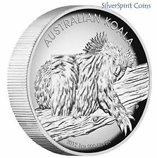 2012 KOALA HIGH RELIEF 1oz Silver Proof Coin