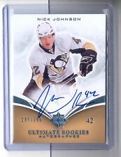 Nick Johnson 10-11 Upper Deck Ultimate Rookies Autograph Signature Rc #285/299