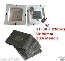 1PC BGA Chips Repairs Kit 80x80mm Reballing Station JIG BGA jig + 230pcs Stencil