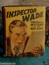 Vintage Big Little Book Inspector Wade Solves Mystery of Red Aces 4121405J