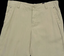 Men's PERRY ELLIS Khaki / Sand Linen Pants 36x32 36 NEW NWT Awesome!