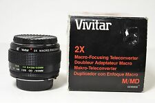 Vivitar 2x Macro Focusing Teleconverter for Minolta MD/MC Mount