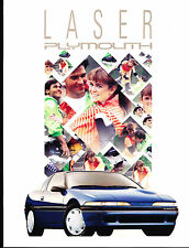 1991 Plymouth Laser 16-page Original Car Sales Brochure Catalog - RS Turbo