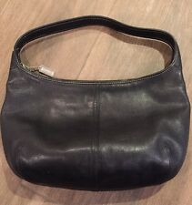 COACH VINTAGE BLACK LEATHER ERGO Shoulder Hobo Handbag Purse 9219 EUC