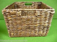 Korb 14x14cm ✿ Eckig ✿ Regalkorb Rattan Aufbewahrung Schrankkorb Basket Panier