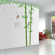 Removable Huge Bamboo Mural Poem Art  Wall Sticker Decal Home Living room Decor