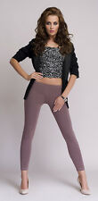 Mija - Good quality women ladies long lengh leggings 95% Cotton Low waist Lea
