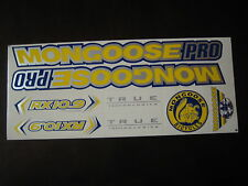 Mongoose PRO RX 10.9 Titanium Stickers Yellow, Silver & Darkblue.