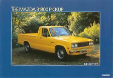 Mazda B1800 Pickup 1981-82 Original UK Sales Brochure