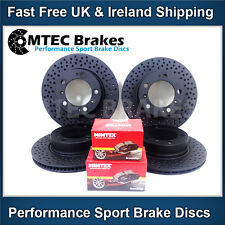 Porsche Boxster 986 2.5 96-99 Front Rear Brake Discs and Pads Mtec Black Edition