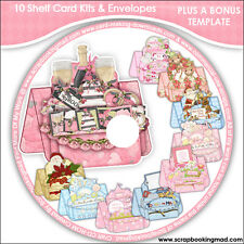 DISK 6 - 10 Shelf Card Kits & Envelopes PLUS A BONUS TEMPLATE - CD-ROM