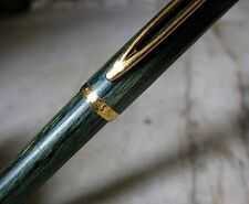RARE STYLO PLUME WATERMAN MAN 100 FONTAINEBLEAU VERT - PLUME EN OR MASSIF 18 K