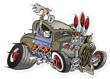 Lethal Threat Hot Rod Rat Engine Flame Metal Sign Man Cave Garage Shop LETH098
