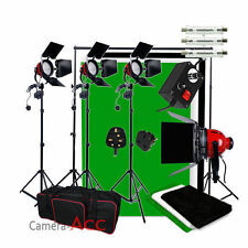 Upgrade 2400W Red Head Continuous Studio Video Lighting Kit 3 Background + Stand