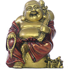 "Standing Happy Buddha Hotai on Candy Bag Miniature 3""H O-072GR"