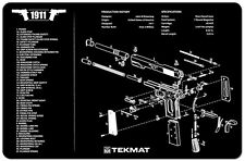 NEW ! M1911A1 Armorers Gun Cleaning Bench Mat Exploded View Schematic 1911