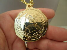 CAESARS Palace Las Vegas Large Gold Coin Pendant With 30 Inch chain
