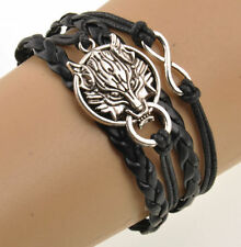 final fantasy V Wolf head silver  Friendship Bracelet Bangle