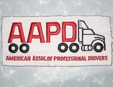 """AAPD Patch - American Assoc. of Professional Drivers - Last One! 5 1/4"""" x 2 1/2"""""""