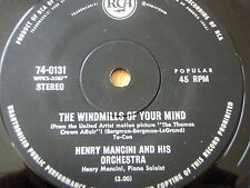 "HENRY MANCINI & HIS ORCHESTRA - THE WINDMILLS OF YOUR MIND  7"" VINYL"