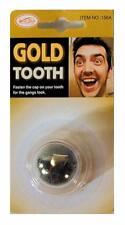 2 slip on GOLD TOOTH prank TJ121 funny pirate fake teeth caps costume dress up