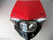 UFO ROAD LEGAL RED HEADLIGHT ENDURO STREETFIGHTER CRF250 XR CRF EC TE XLR CRF450