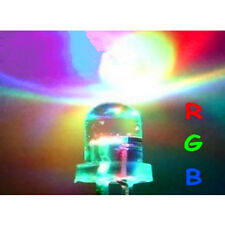 10pcs 5mm RGB (Red, Green, Blue) Fast  Flash Round LED Lamps Rainbow Blink