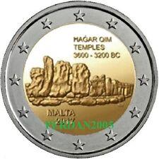 MALTA 2017 2 EURO FDC UNC TEMPLI DI HAGAR QIM MALTE МАЛЬТА 马耳他 2/7