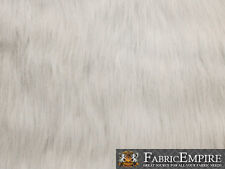 "Fake Faux Fur Long Pile Fabric ULTRA POLAR BEAR WHITE 60"" Wide Sold by the yard"