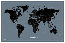 National Geographic Modern World Map Poster Print, 36x24